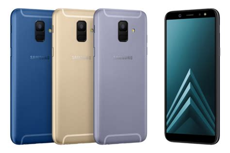 Samsung Introduces the Galaxy A6 and A6+ Featuring an