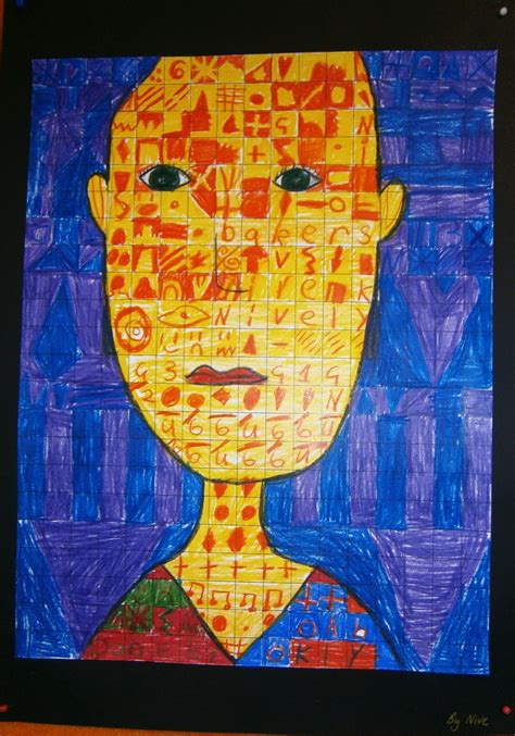 Art with Mrs Baker: Year 1/2 Chuck Close Grid Portraits