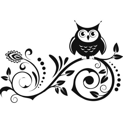 Pin by Judit Fűkő on Black and white | Owl vector, Vector