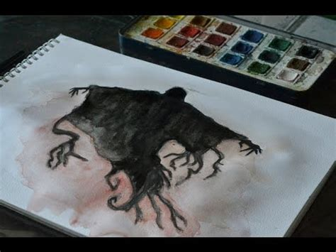 How to draw and paint a Dementor! - YouTube