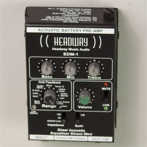 Headway EDM-1 Sheer Acoustic Equalizer Direct Mini preamp