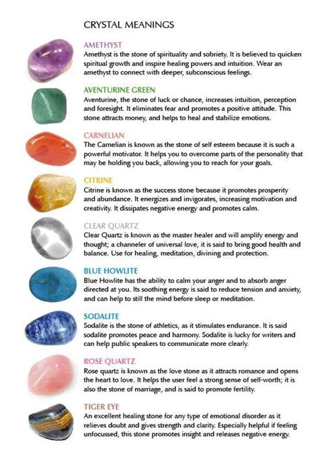 Crystal Meanings – Witches Of The Craft® | Crystal