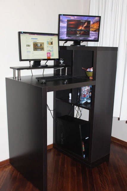 Expedit Workstation to Small Form Standing Desk - IKEA