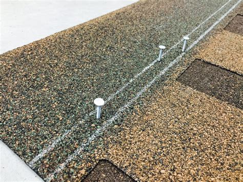 Proper nailing is essential to the performance of roof