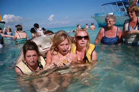 Stingray Photobomb Gives Tourists A Fright (PICTURES