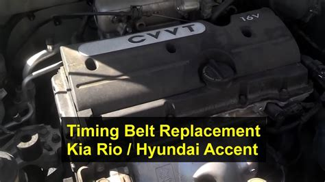 How to replace the timing belt, replacement, Kia Rio